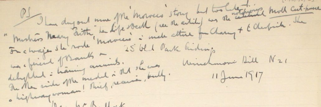 15 – Letter to Fred Bullock from Frederick Smith, 11 Jun 1917