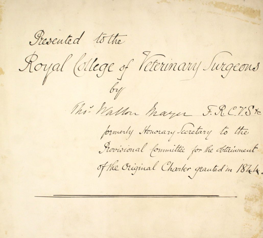 2 – Letters written in support of Memorial to Governors of the Royal Veterinary College, 1840